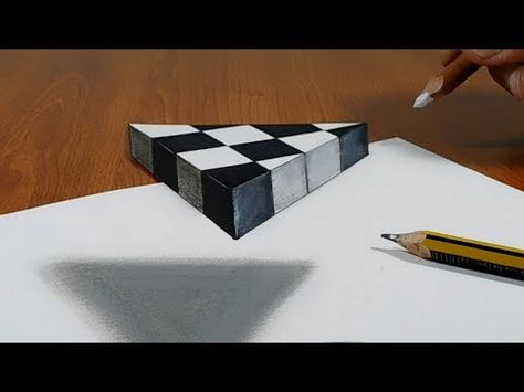 3d Trick Art On Paper Floating Chess Youtube Zeichnen Malen