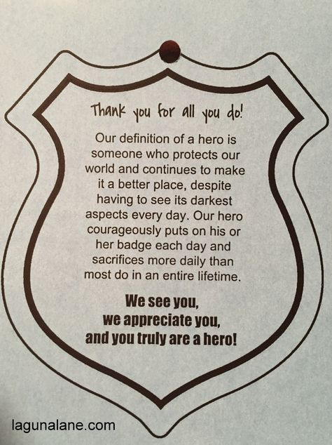 Police Appreciation Bags + FREE Printable Tags | Laguna Lane