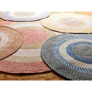 Penelope Braided Rug 8 Round Overstock Com Shopping The Best Deals On Round Oval Square Bedding Clothing Ele In 2020 Braided Rug Diy Diy Rug Braided Rag Rugs