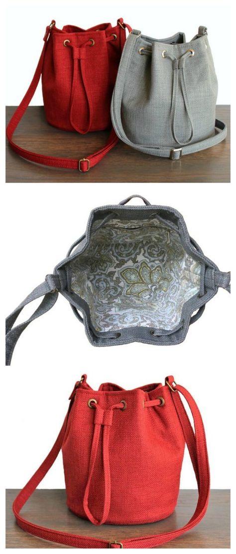 Mini bucket bag sewing pattern - Sew Modern Bags