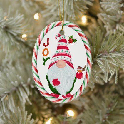 Funny Gnome Joy Kids Christmas Ornament Zazzle Com In 2020 Kids Christmas Ornaments Christmas Ornaments Wood Christmas Ornaments