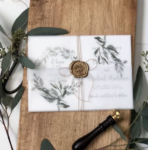 Rustic Greenery Save the Date Card, Vellum Wrap - Love of Creating Design Co - #card #Creating #date #design #Greenery #love #Rustic #Save #Vellum #Wrap