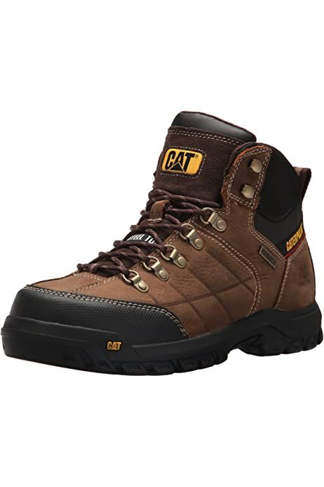Caterpillar Bota De Trabajo A Prueba De Agua Con Punta De Acero Para Hombre Bei In 2021 Industrial Boots Waterproof Shoes For Men Mens Waterproof Boots