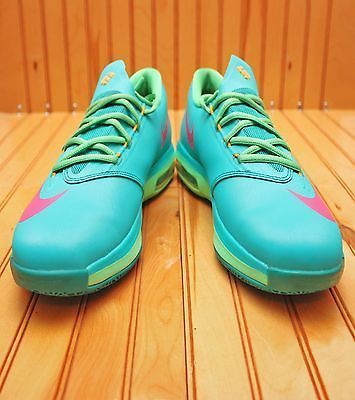 the latest 4b296 ae4ed Nike KD VI 6 Size 7Y - Hero Pack Turbo Green Vivid Pink Nightshade - 599477  304