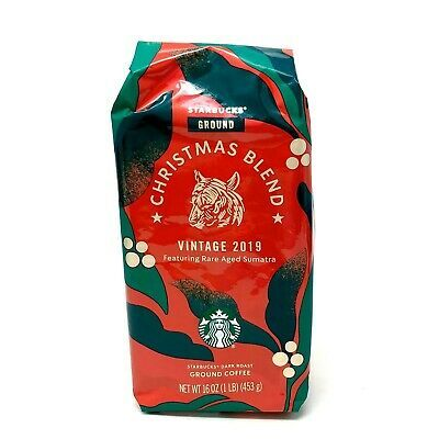 Starbucks Christmas Blend Vintage 2020 Starbucks Christmas Blend Vintage 2019 Dark Roast Sumatra Ground