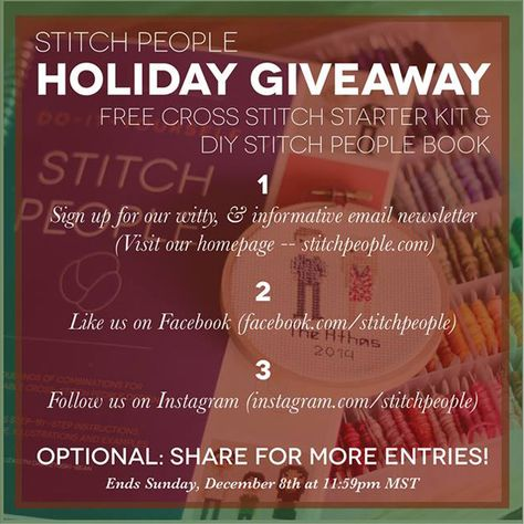 Go to the Quiet Book Blog this week (through December 8 2014) to find out how to enter the Stitch People Giveaway!