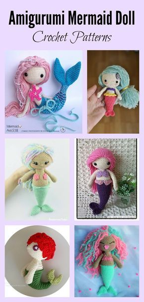 Free Mermaid Crochet Pattern - Red Ted Art - Make crafting with ... | 605x290