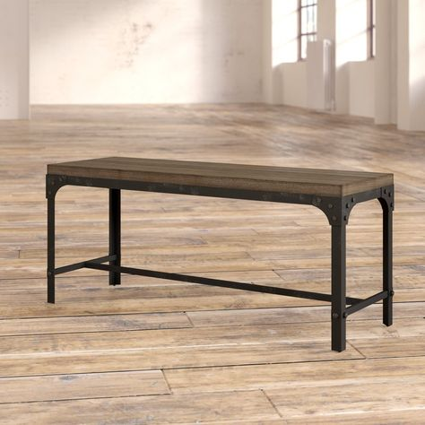 Swell Hernwood 55 Dining Bench Brown Threshold Andrewgaddart Wooden Chair Designs For Living Room Andrewgaddartcom