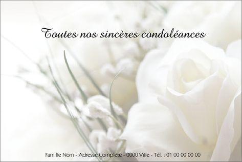 Carte De Condoléances Gratuite Modèle De Lettre Carte