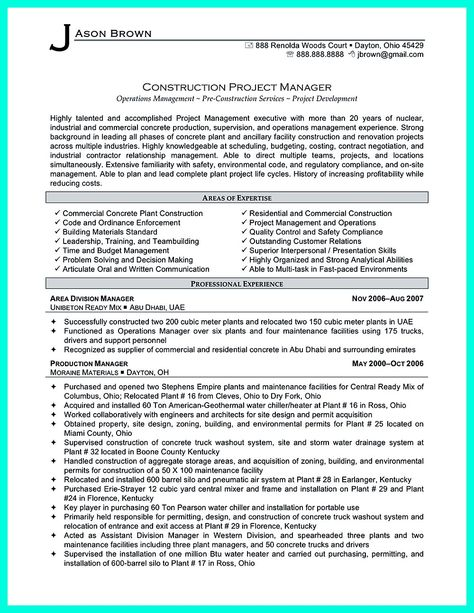Construction management resume is designed for a professional who have job experience as a construction manager or for the new-comer who have related ... construction management resume objective