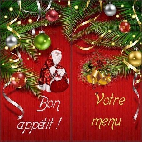 carte de menu de noel a imprimer gratuitement Menu de Noël gratuit à imprimer (With images)