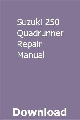 Suzuki 250 Quadrunner Repair Manual Repair Manuals Air Compressor Repair Repair