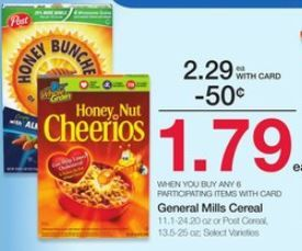 Post Cereal Or General Mills Cereal For 1 29 A Box At Kroger