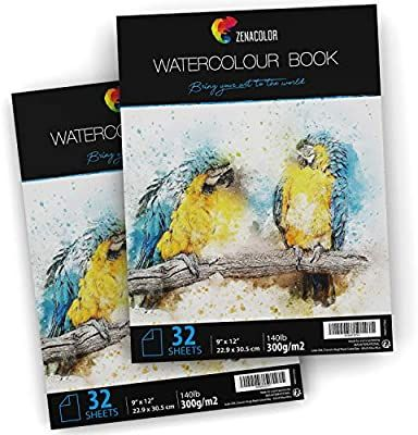 Amazon Com 64 Pages Watercolor Paper Pad 9 X 12 For
