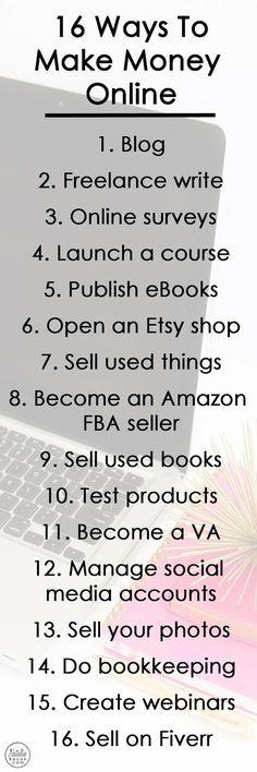 16+ Ways to Make Money Online