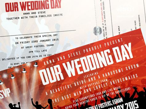 Concert Ticket Wedding Invites Http Www Wedfest Co Themed Invitations Pinterest Themes And