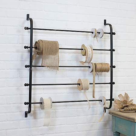 Wall Mounted Ribbon Storage Rack Baskets On Wall Ribbon Storage