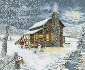 Smoky Mountain Christmas DIY Chart Counted Cross Stitch Patterns Needlework