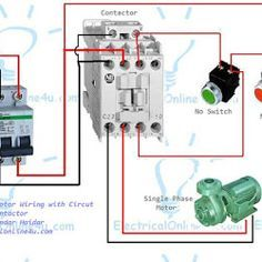 The Plete Of Single Phase Motor Wiring With Circuit Breaker And Contactor Diagram