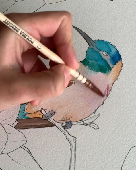 Using Polina Bright synthetic brush#watercolourpainting #watercolor #watercoloursketch #art #artwork #sydney #painting #polinabright #drawingideas #drawingtutorial #drawingtips