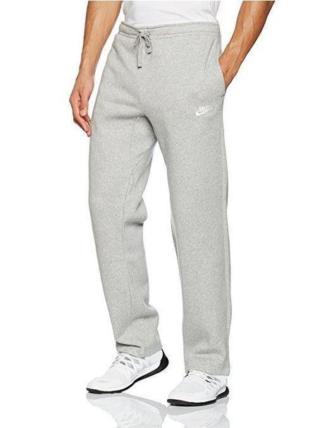ec5c3a6d8471 Nike Mens Large Open Hem Club Fleece Gray Sweatpants L 804395-063  Nike   Pants