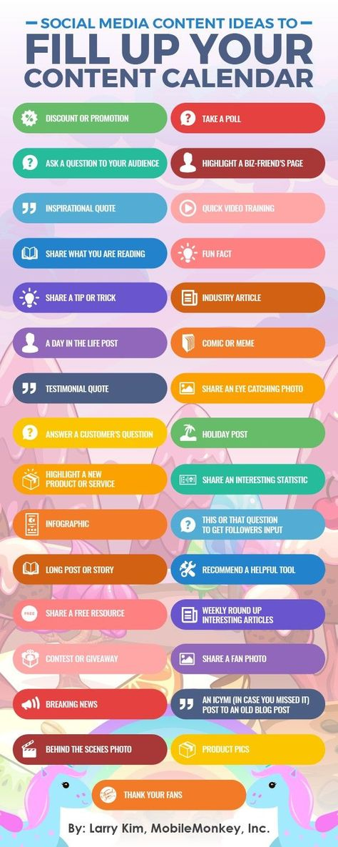 146 Incredible Social Media Content Ideas Your Followers Will Love [3 x Infographics]