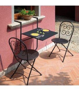 Offerte Tavoli Da Giardino In Teak.Tavolo Da Ringhiera Pieghevole In Ferro Di Colore Bianco