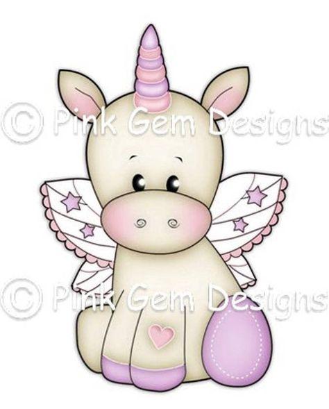 Digi Stamp Baby Unicorn