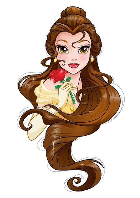 Project for Disney. Sketchy drawings and vector illustrations of Disney Princesses.