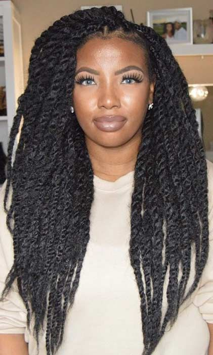 23 Hot Marley Twist Hairstyles To Try Right Now Page 2 Of 2 Stayglam Marley Twist Hairstyles Havana Twist Hairstyles Marley Hair