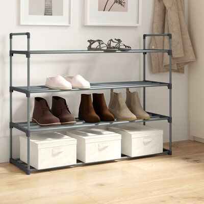 Dotted Line 20 Pair Stackable Shoe Rack In 2020 Stackable Shoe