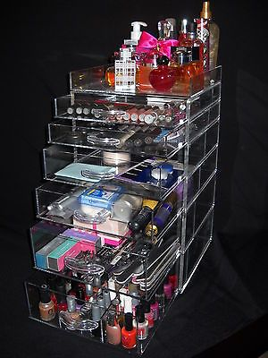 Details About Clear Kardashian Makeup Case With 3 7 Drawers
