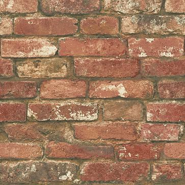 Distressed Red Brick Peel Stick Wallpaper Red Brick Wallpaper Brick Wallpaper Brick Feature Wall