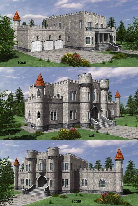 Rear Elevation Plan 59 111 Castle House Plans Castle Plans Castle Floor Plan