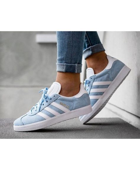 best sneakers dfde0 54b1e Adidas Gazelle Womens Trainers In Blue White