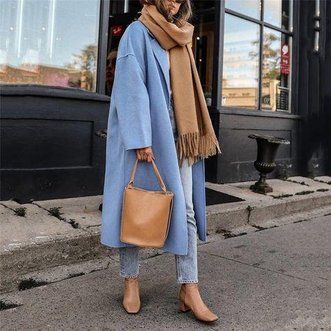 Elegant Solid Color Two Button Coat – Allinlike