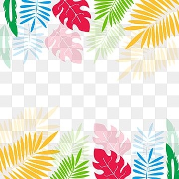 Watercolor Tropical Leaves Flowers Clipart Tropical Clipart Tropical Leaf Png And Vector With Transparent Background For Free Download Tropical Leaves Watercolor Flower Background Leaf Flowers