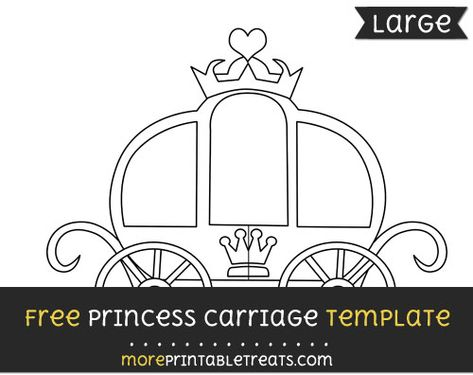 Free Princess Carriage Template Large Princess Carriage