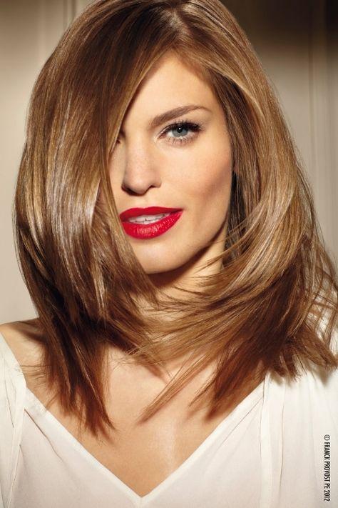 Halblange frisuren braun