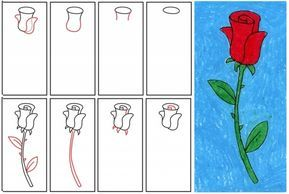 1001 Modeles Et Conseils Pour Apprendre Comment Dessiner Une Rose Dessin Rose Comment Dessiner Une Rose Fleur Dessin Facile