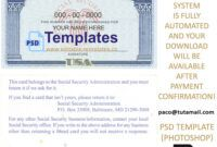 Ssn Usa Social Security Number Template Throughout Social Security Card Template Psd Social Security Card Card Template Templates