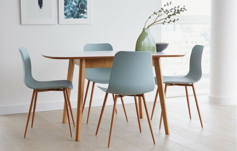 Talisa Extendable Dining Set 4 Seats Teal With Images