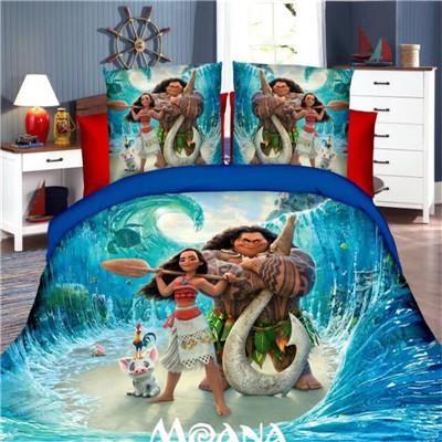 Disney Moana Princess Girls Bedding Set, Moana Queen Size Bed Sheets