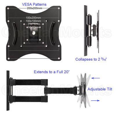 Articulating Arm Tilt Swivel Wall Mount For 23 32 Screens