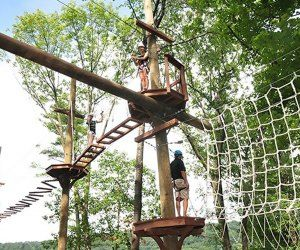 Zip Lines And Adventure Ropes Courses For Kids In And Around Nj Ziplining Ropes Course High Ropes Course