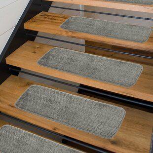 Tucker Murphy Pet Beaverton Medium Gray Stair Tread Wayfair | Wayfair Carpet Stair Treads | Tucker Murphy | Carpet Runners | Oaks Godinez | Stair Railing | Beige Carpet