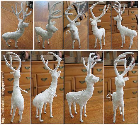Belznickle Blogspot : Sculpt a Cotton Batting Deer