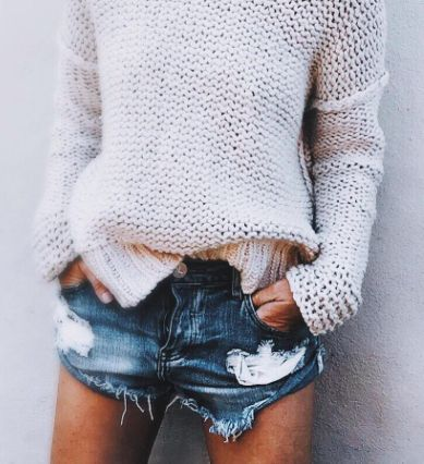 Team together knits and shorts