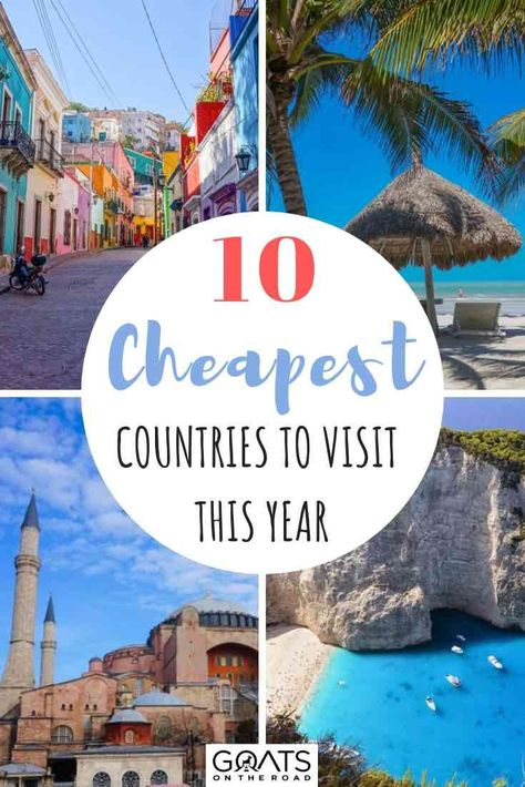 Travelling on a limited budget? Then you're going to want to check out this frugal travel guide to find the cheapest countries for your backpacking itinerary. Whether you want to vacation on a European beach in Greece, or surround yourself with palm trees in Thailand, there is a travel destination for you! #travelhacks #cheaptravel #budgettravel