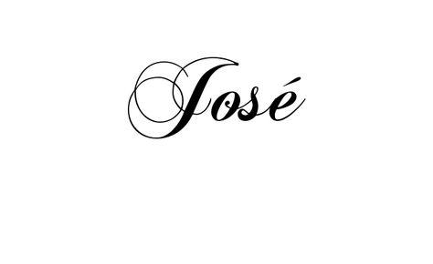 Tatuagem do nome José utilizando o estilo ChopinScript Regular